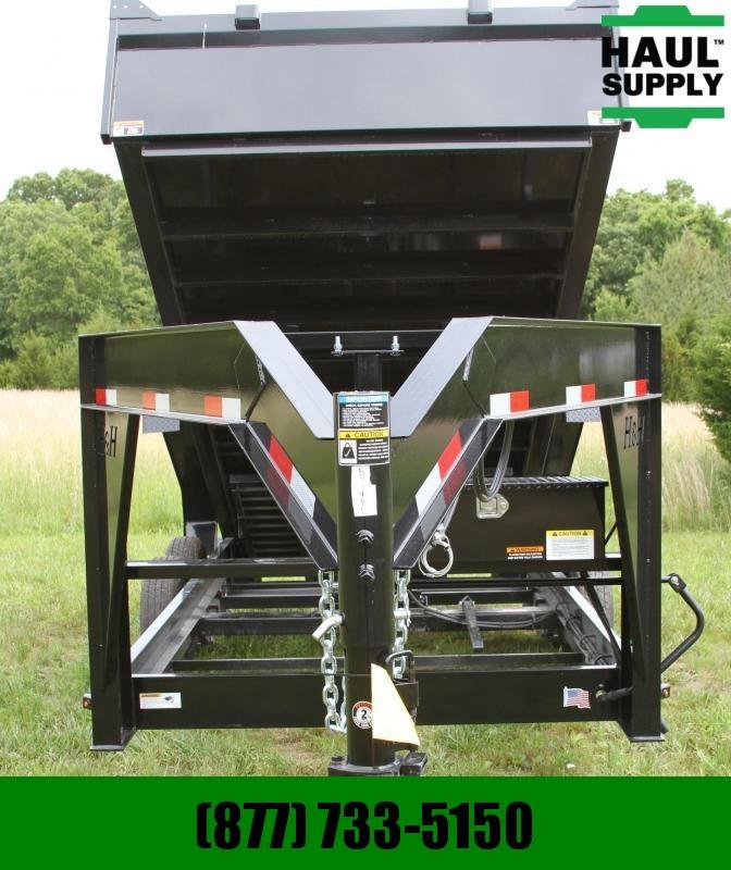 S and H Trailers 83X16 14K Gooseneck Dump 8in Steel Channe