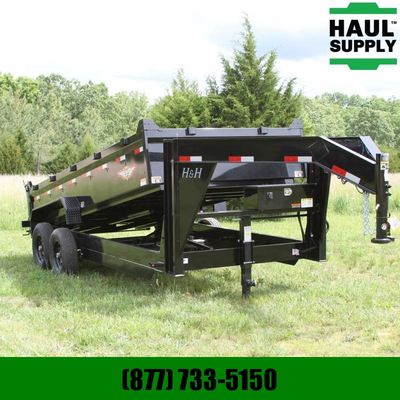 S and H Trailers 83X16 14K Gooseneck Dump 8in Steel Channe