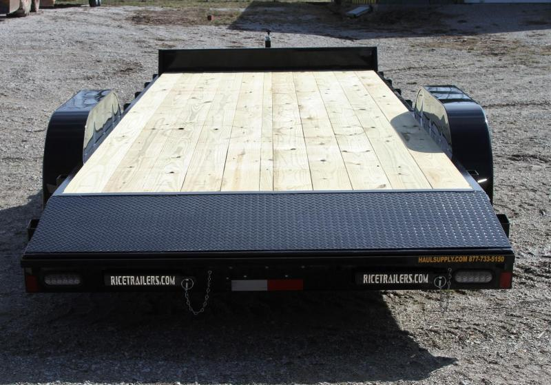Rice 82X20 10K OPEN CAR HAULER W/TOOLBOX 2'