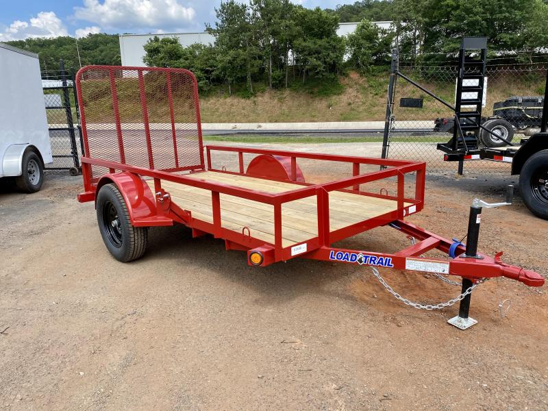 New 2020 Load Trail 5ft x 10ft 3.5k Single Axle  Bumper Pull Utility   (Red)