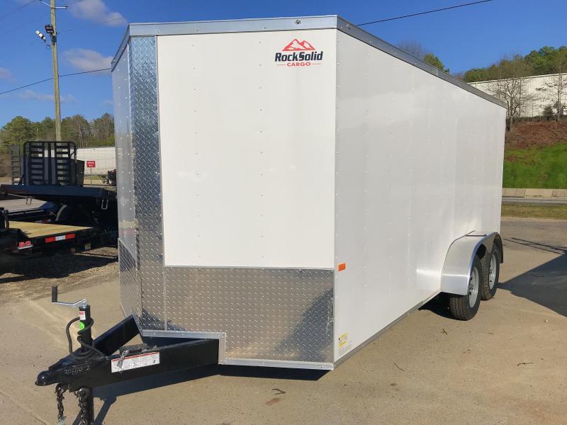 2020 Rock Solid Cargo 7x16 Tandem Enclosed Cargo Trailer