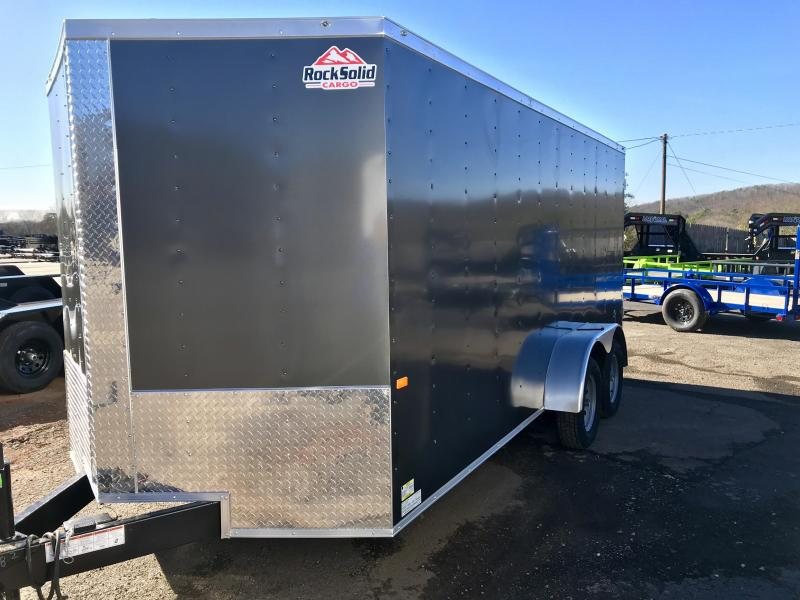 New Rock Solid 7x16 Tandem Axle Enclosed Cargo Trailer
