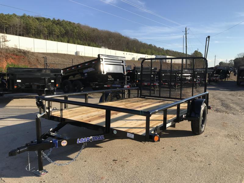 New 2020 Load Trail 7ft x 12ft 2.995k Single Axle  Bumper Pull Utility   (Black)
