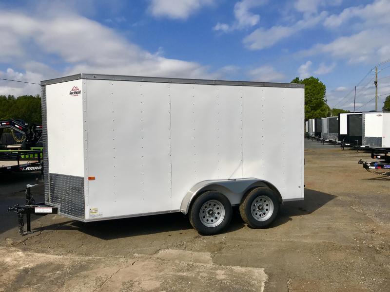New Rock Solid Cargo 6x12 Tandem Enclosed Cargo Trailer