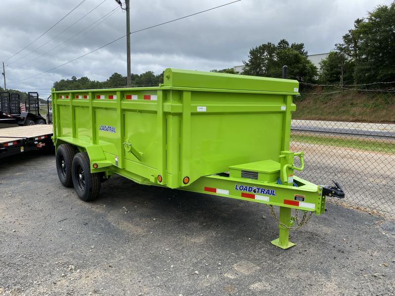 2020 Load Trail 7ft x 14ft 14k Dump w/3ft walls (Safety Green)