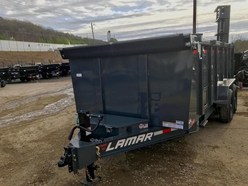 New Lamar 16ft W/4' walls Dump Trailer