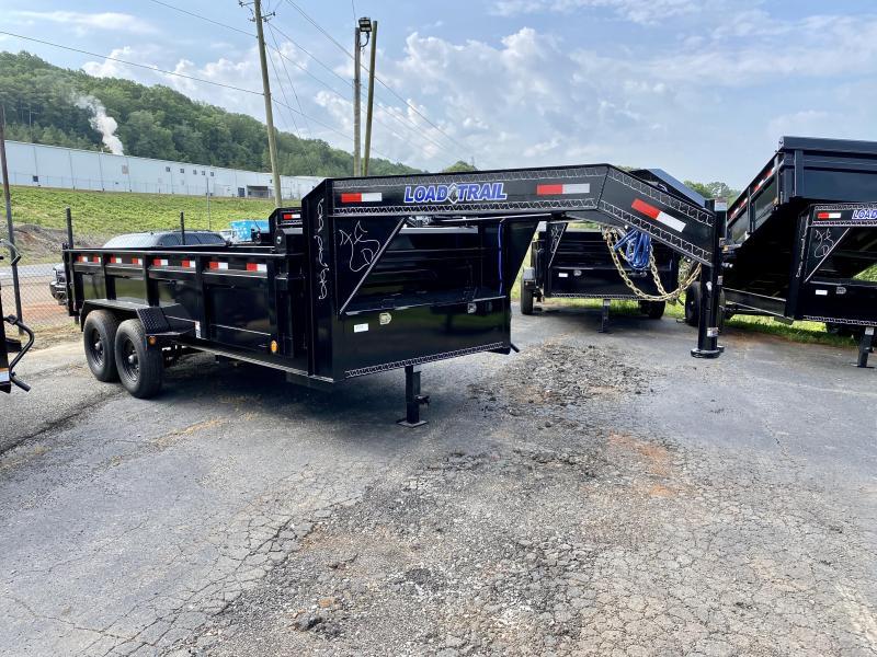 New 2020 Load Trail 7ft x 14ft 14k Tandem Axle  Gooseneck Dump w/2ft walls (Black)