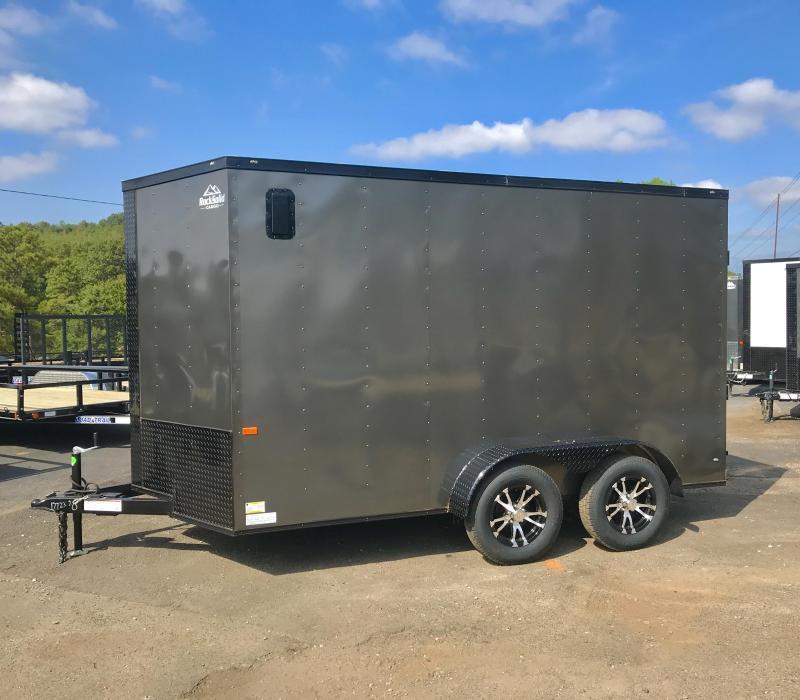 New Rock Solid Cargo 7x12 Tandem Enclosed Cargo Trailer