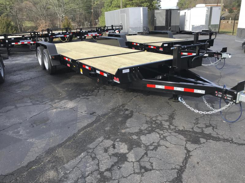 New 2020 B-B 7ft x 22ft 16k Tandem Axle  Bumper Pull Tilt Deck   (Black)