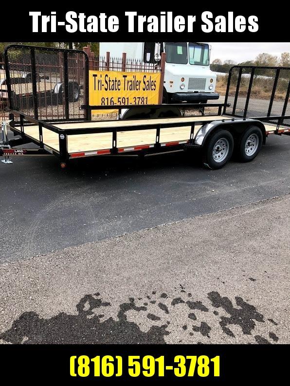 2020 Heartland 18 Utility Tandem Rear and Side Gate Utility Trailer