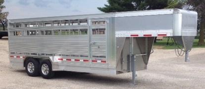 2020 EBY Maverick LS 7 X 20 Livestock Trailer