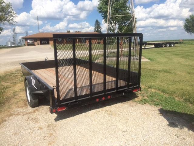 "2020 Trailerman Trailers Inc.Utility 84"" X 12' Solid Side"