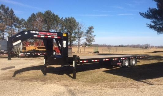 2019 Trailerman Trailers Inc. Hydraulic Dove Hired Hand Equipment Trailer