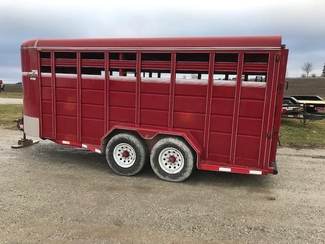 "2015 CornPro 6'8"" X 18 Livestock Trailer"