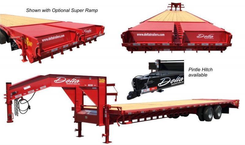 2020 Delta Manufacturing 210GN 20+5 Flatbed Trailer