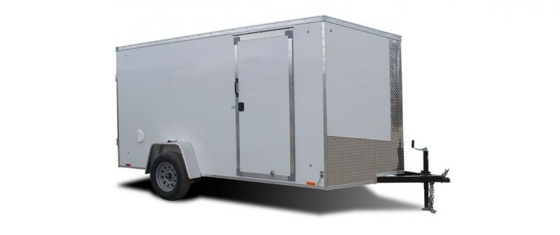 2021 Pace American 6x12 Silver/Blackout Enclosed Cargo Trailer