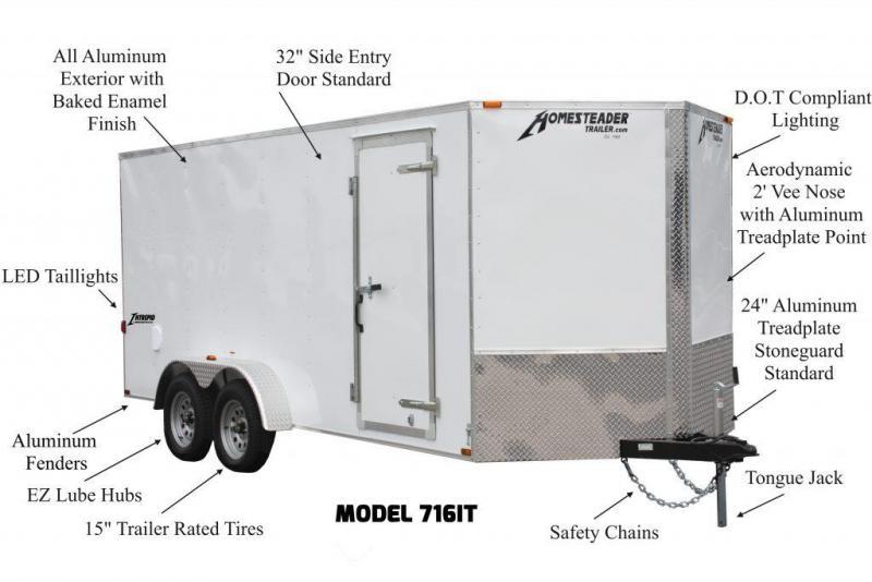 2020 Homesteader 6x12 Tandem Cargo Trailer
