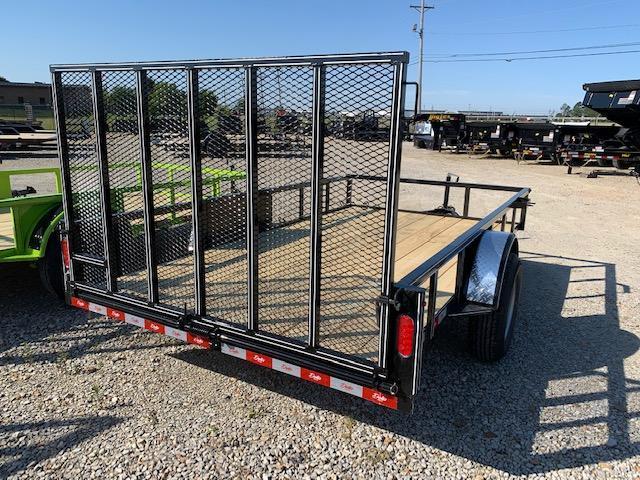 "New 2020 Delta Manufacturing 135U 76""x12' Black ATV Trailer"