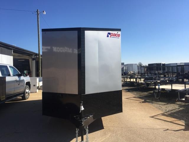 2021 Pace American 7x16 Silver/Blackout Cargo Trailer