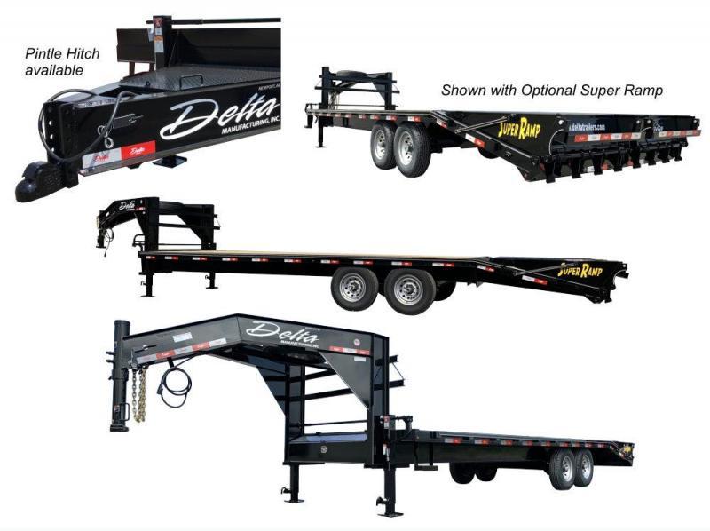 2020 Delta Manufacturing 27GN Flatbed Trailer