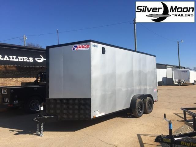2020 Pace American 7x16 Silver/Blackout Cargo Trailer