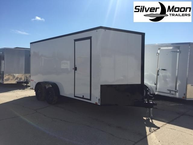 2021 Pace American 7x16 White/Blackout Cargo Trailer