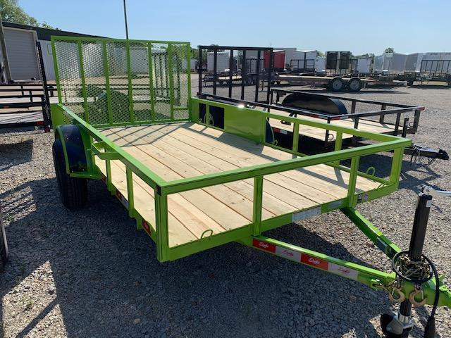 "New 2020 Delta Manufacturing 135U 76""x12' Green ATV Trailer"