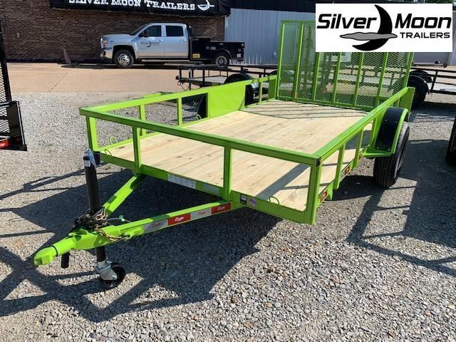"New 2020 Delta Manufacturing 135U 76""x12' Green ATV Trailer"