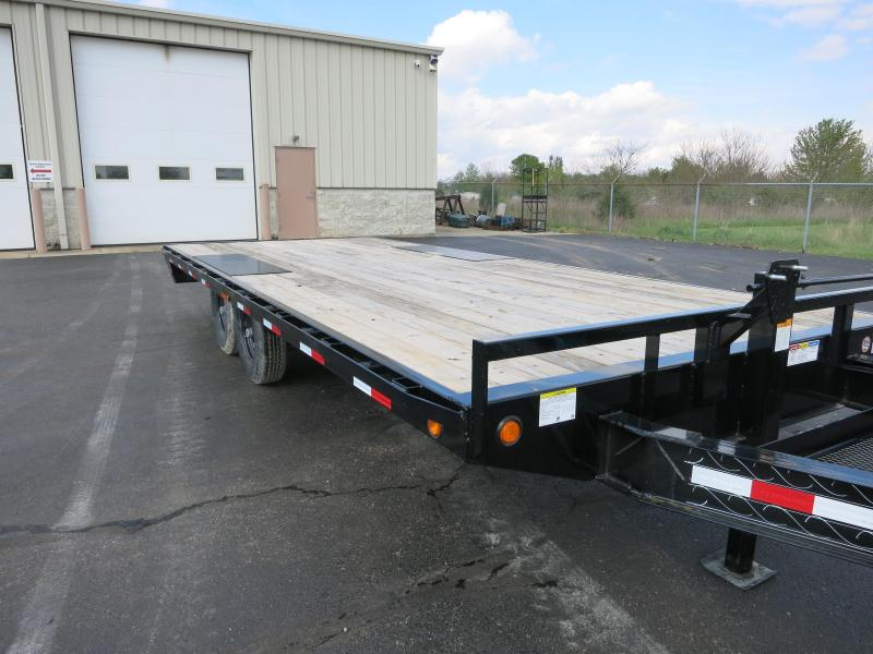 PJ Trailers 20' Deckover Flatbed Trailer w/ Ramps