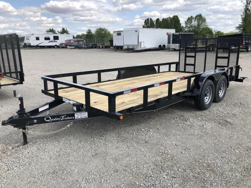 Quality Trailers 7x18 Wood Floor Utility Trailer