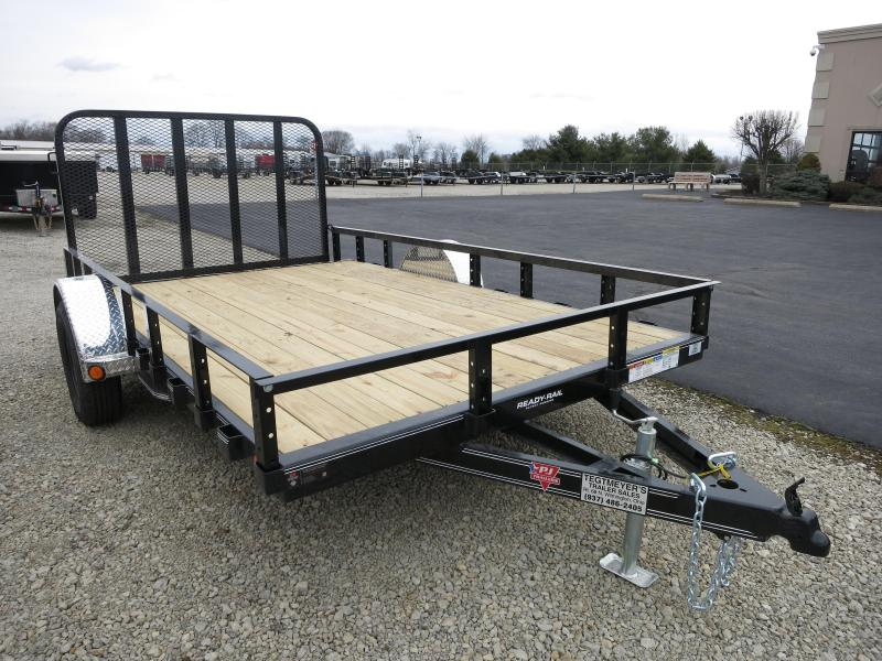 PJ Trailers 7x12 Utility Trailers w/ Gate - Single Axle 2995 GVW