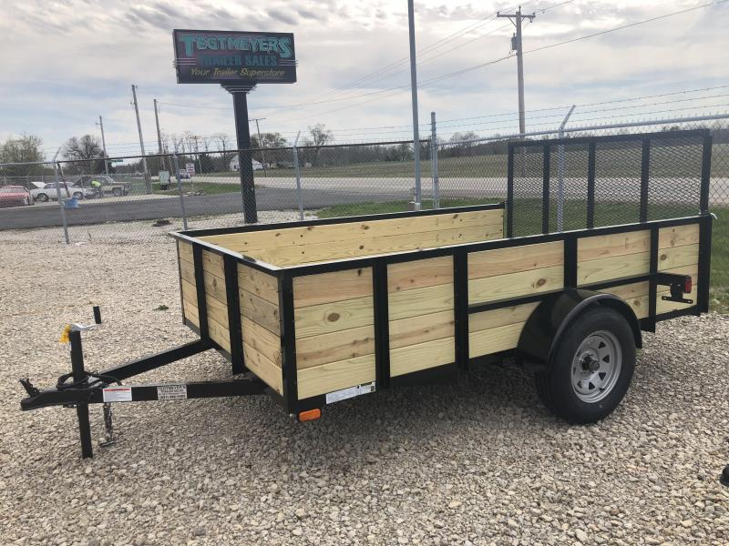 American Manufacturing 6x10 Utility Trailer w/ wood sides gate