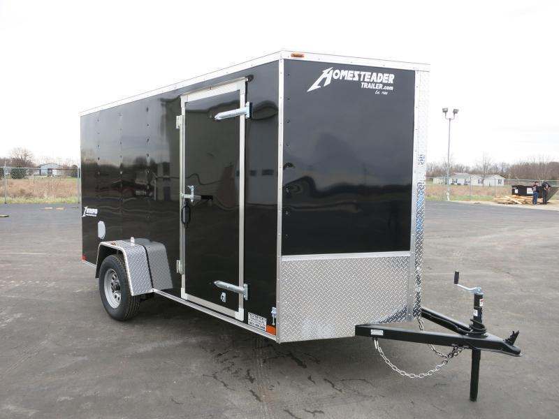 Homesteader Trailers 6x12 SA-29  Enclosed Trailer w/ Ramp Door - D Rings - Side Wall Vents