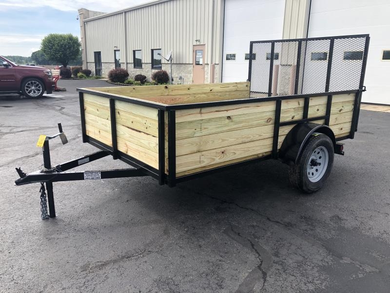 6x10 Utility Trailer High Sides & Gate