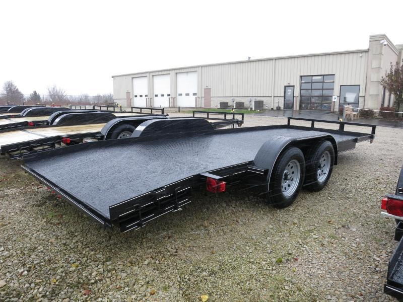 Lone Wolf Trailers 20' Steel Floor Car Hauler w/ ramps