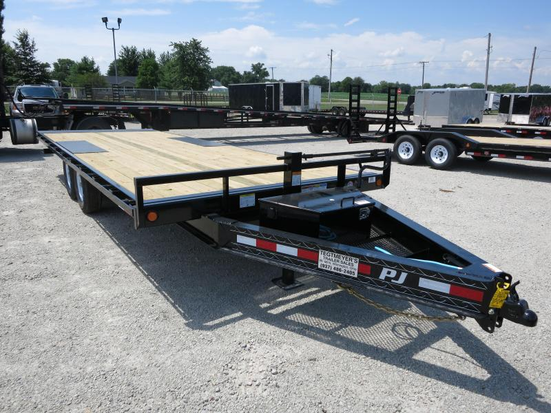 PJ Trailer 22' Tandem Axle Deck over Flatbed Tilt Trailer