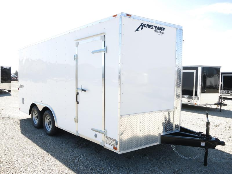 Homesteader 8.5x16 Enclosed Trailer with Ramp Door