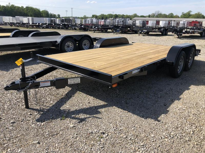 16' Car Trailers Wood Floor w/ ramps - Brake