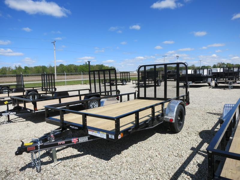PJ Trailers 6x10 Utility Trailers w/ Gate - Single Axle 2995 GVW