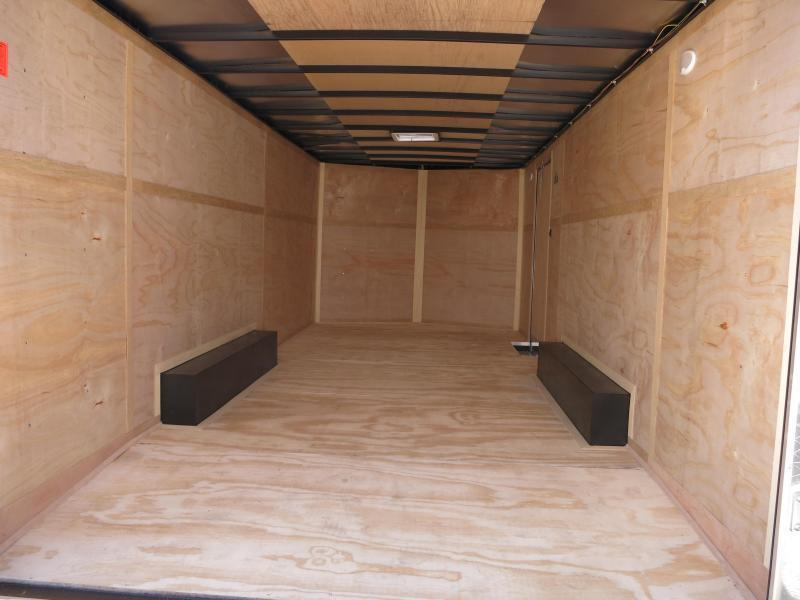 Continental Cargo 8.5X20 Tandem Axle Enclosed Trailer W/ Ramp Door - Roof Vent - D rings