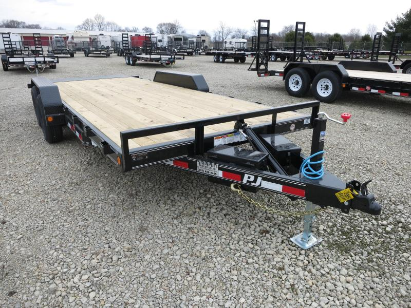 PJ Trailers 20' Equipment Trailer - Quick Power Tilt