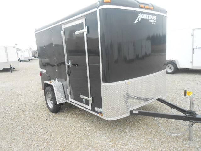 Homesteader Trailers 6x10 Single Axle Enclosed Trailer with Ramp Door - Side Door - Side Wall Vents