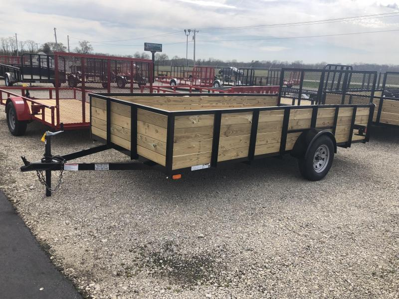 American Manufacturing 7x14 Utility Trailer w/ wood sides gate