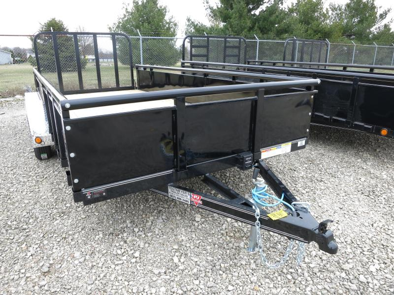 "PJ Trailers 7' x 16' Utility Trailer w/ Fold Up Gate and 22"" Metal Side"