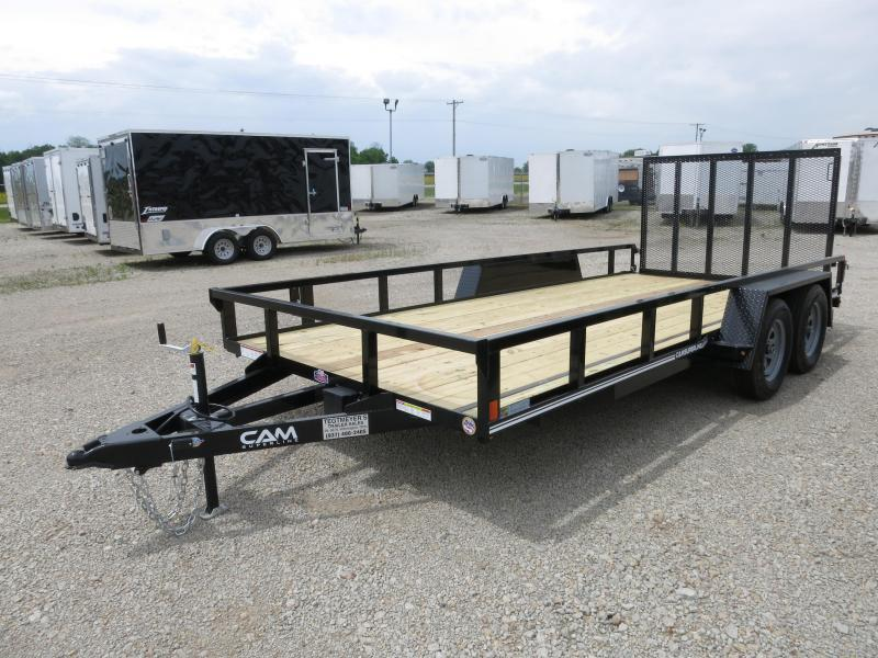Cam Superline Trailers  7x18 Utility w/ gate