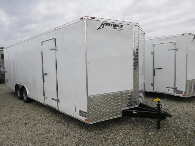 Homesteader Trailers 8.5x24 Enclosed Trailer w/ ramp door - Side Door