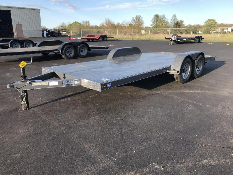 Nation Tank & Trailers - 18' Steel Floor Car Hauler w/ ramps - removable fenders