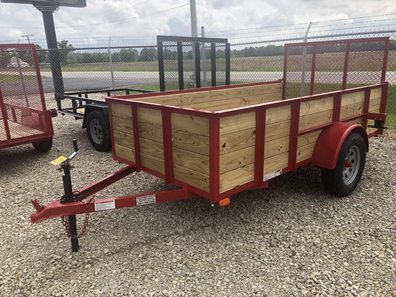 American Manufacturing 5x10 Utility Trailer w/ wood sides gate