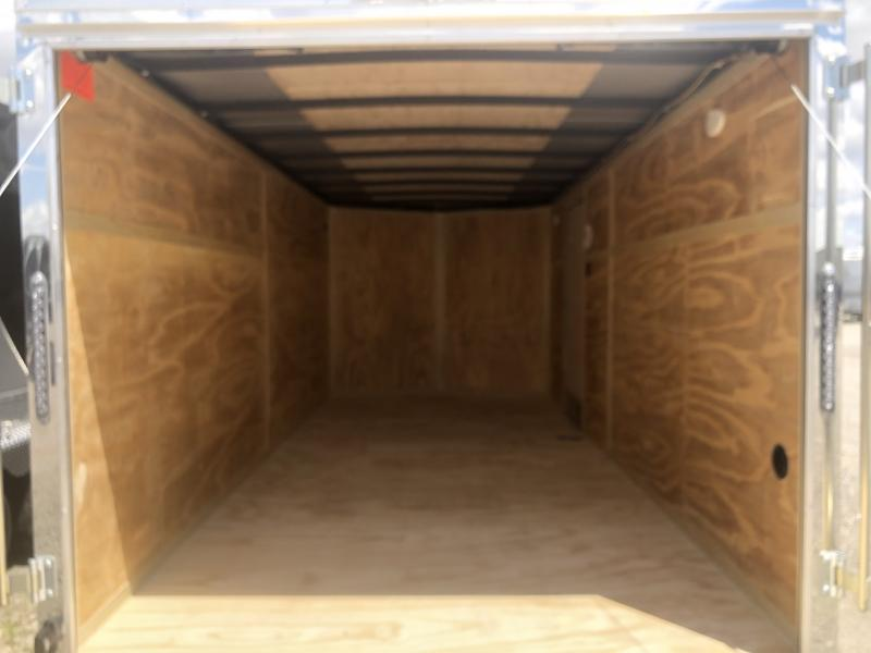 Continental Cargo Trailers 7X16 Enclosed Trailers W/ Ramp Doors - Dome Lights - LED Tail Lights - Stone Gard- Stabilizer Jacks