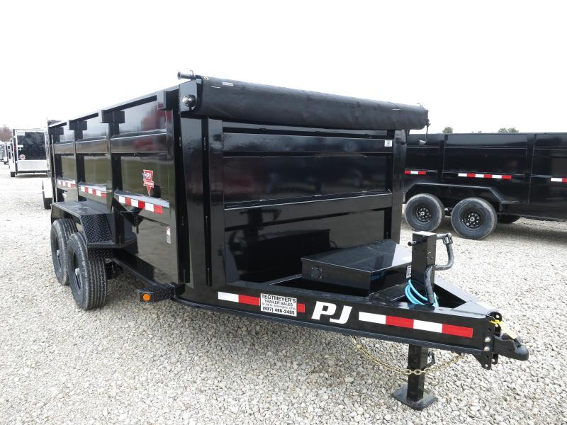 """PJ Trailers 14' x 83"""" Low Pro High Side Dump Trailer"""